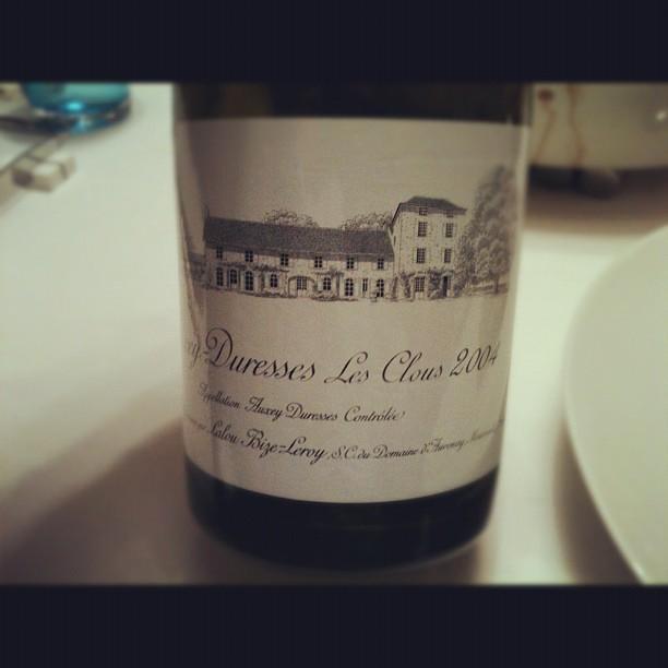 blog vin - Domaine D'Auvenay - Lalou Bize Leroy - Auxey Duresses - Les Clous - 2004 - Bourgogne