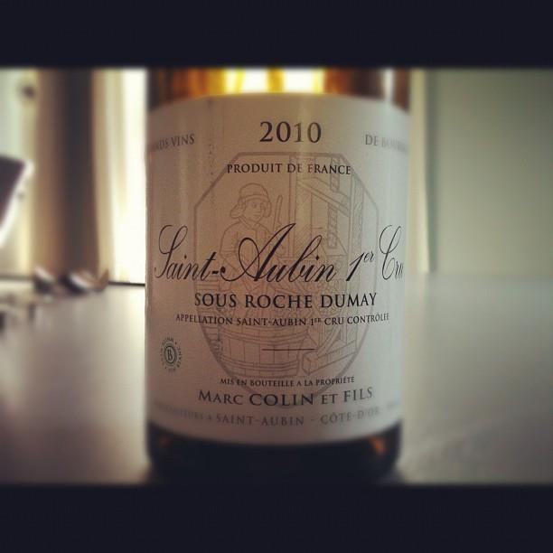 blog vin - Domaine Marc Colin - Saint Aubin 1er cru - 2010 - Bourgogne