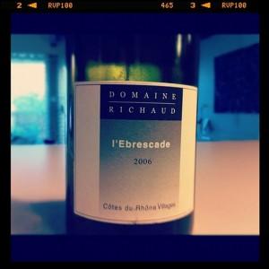 Blog vin – Marcel Richaud – Ebrescade – 2006 – Côtes du Rhône village