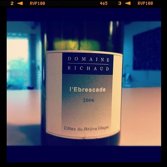 blog vin - Domaine Richaud - Ebrescade - 2006